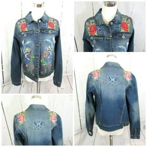Blank NYC Jean Jacket Embroidered Wild Child